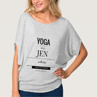 """YOGA WITH JEN"" apparel T-Shirt"