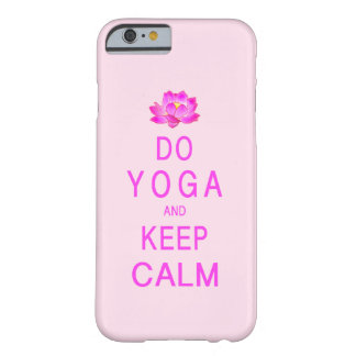 Yoga with Lotus Flower Barely There iPhone 6 Case