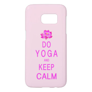 Yoga with Lotus Flower Samsung Galaxy S7 Case