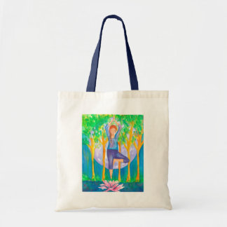 Yoga Woman Full Moon Tote Bag