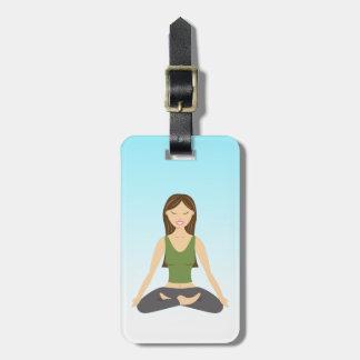 Yoga Woman In Lotus Pose Luggage Tag