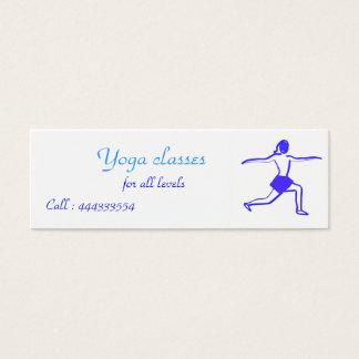 yoga woman mini business card