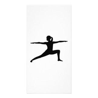Yoga woman custom photo card