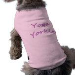 Yoga Yorkie Dog Shirt