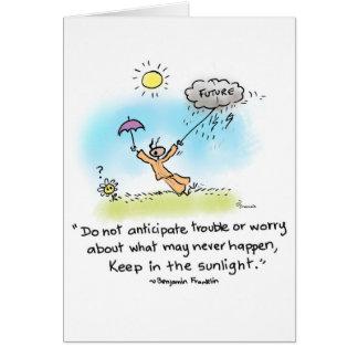 "Yogi Ant- ""Keep in the sunlight"" Card"