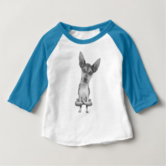 Yogi Doggie cute dog in yoga asana, cool funny Baby T-Shirt