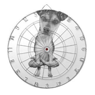 Yogi Doggie cute dog in yoga asana, cool funny Dartboard