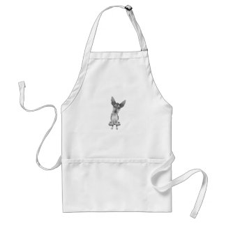 Yogi Doggie cute dog in yoga asana, cool funny Standard Apron