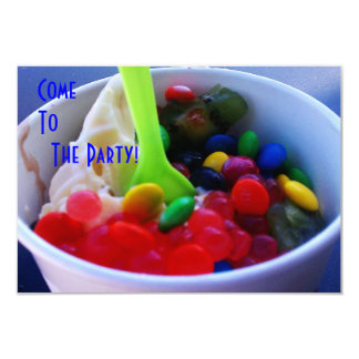 Yogurt and Fixins Bright Color Candy Invite
