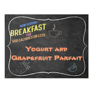 Yogurt and Grapefruit Parfait Recipe Card