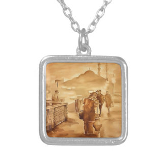 Yogurt Delivery In Istanbul pill Silver Plated Necklace
