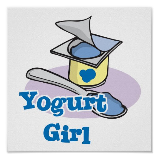 Yogurt Girl blueberry yogurt Print