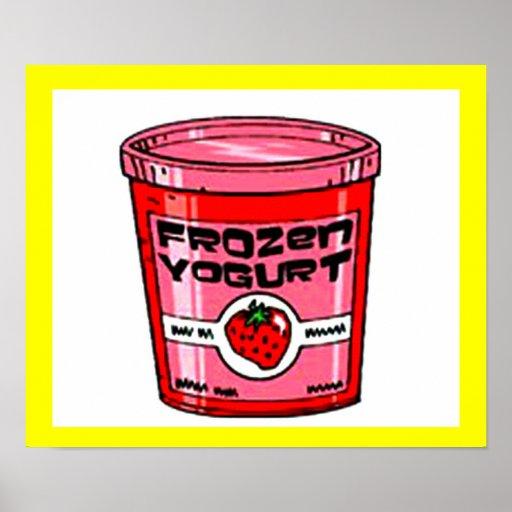 Yogurt Strawberry Print
