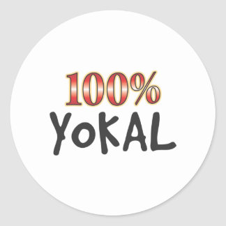 Yokal 100 Percent Round Sticker