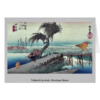 Yokkaichi by Ando, Hiroshige Ukiyoe Card