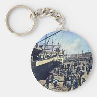 Yokohama Harbor Japan Vintage Shipping 横浜港 Keychain