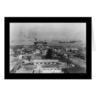 Yokohama Japan Harbor 1909 Card