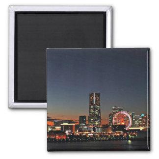 Yokohama Skyline at Night Magnet