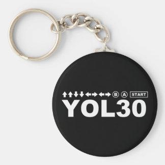 YOL30 BASIC ROUND BUTTON KEYCHAIN