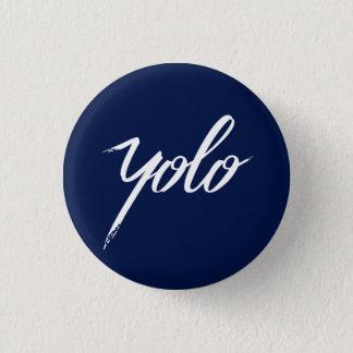 YOLO Blue 1 Inch Round Button