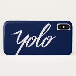 YOLO Blue iPhone X Case