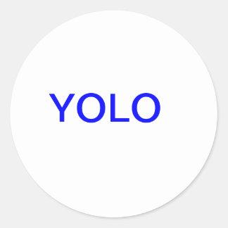 yolo classic round sticker