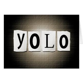 YOLO concept. Card