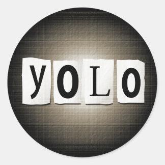 YOLO concept. Classic Round Sticker