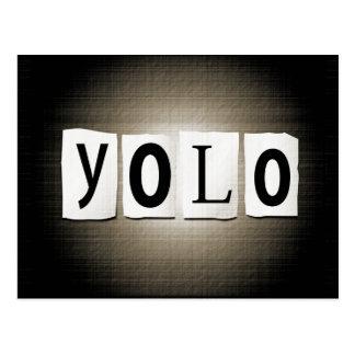 YOLO concept. Postcard