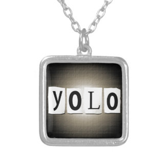 YOLO concept. Silver Plated Necklace