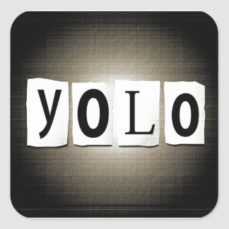 YOLO concept. Square Sticker
