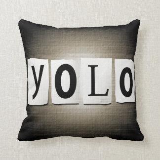 YOLO concept. Throw Pillow