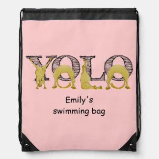 YOLO flexi pony Drawstring Bag