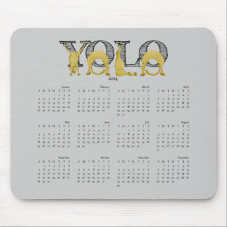 YOLO flexible pony calendar 2014 Mouse Pad