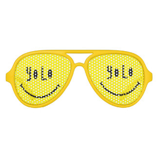 YOLO Funky Smiley Face Party Glasses