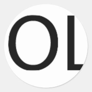 Yolo Gear Classic Round Sticker