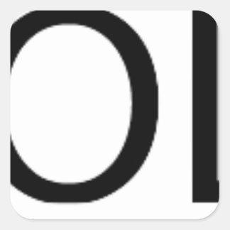 Yolo Gear Square Sticker
