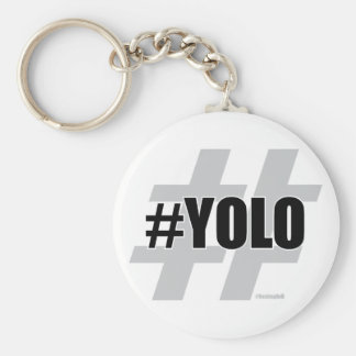 YOLO Hashtag Keychain