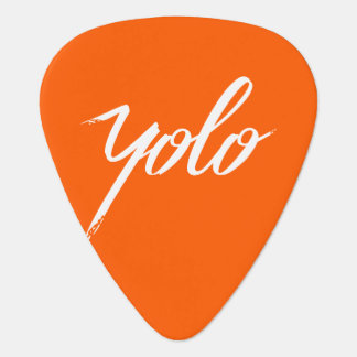 YOLO Orange Guitar Pick
