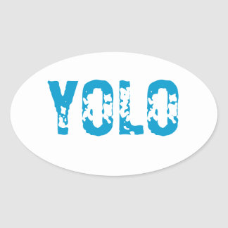 YOLO OVAL STICKER