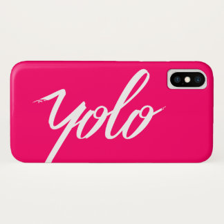 YOLO Pink iPhone X Case
