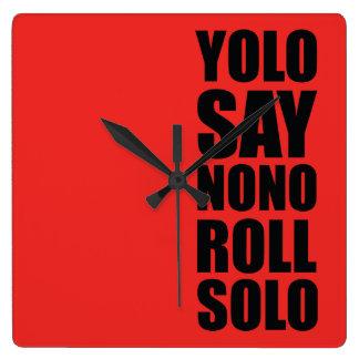 YOLO Roll Solo Wallclock
