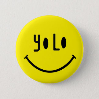 Yolo Smiley Face 2 Inch Round Button