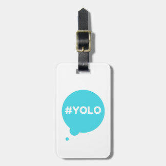 yolo teal luggage tag