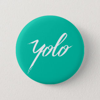 YOLO Turquoise 2 Inch Round Button