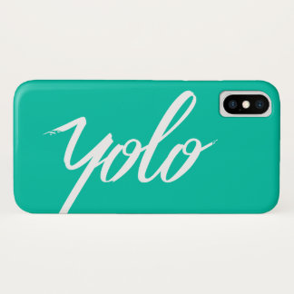 YOLO Turquoise Case-Mate iPhone Case