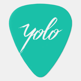 YOLO Turquoise Guitar Pick