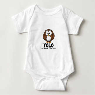 YOLO You Obviously Love Owls Baby Bodysuit