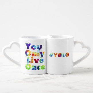 #yolo You Only Live Once Mug Set