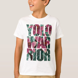 YOLOWARRIOR - Floral Letters T-Shirt